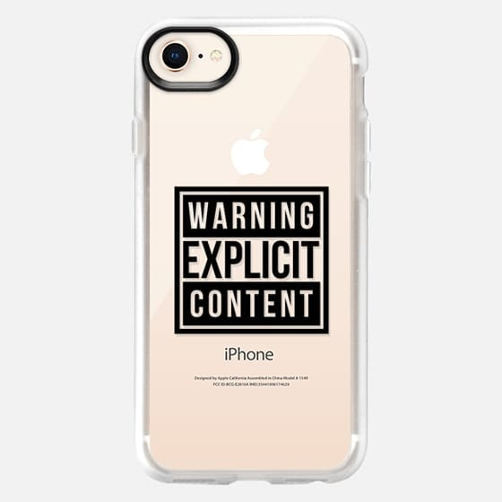 Cool Chic Transparent Sassy Funny Gold Warning Explicit Content Design - Snap Case