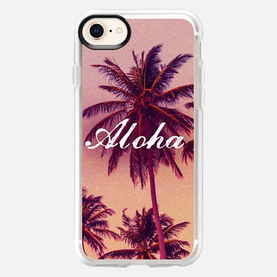 Cute Girly Tropical Aloha Summer Beach Palm Trees Vintage Hawaii  - Snap Case