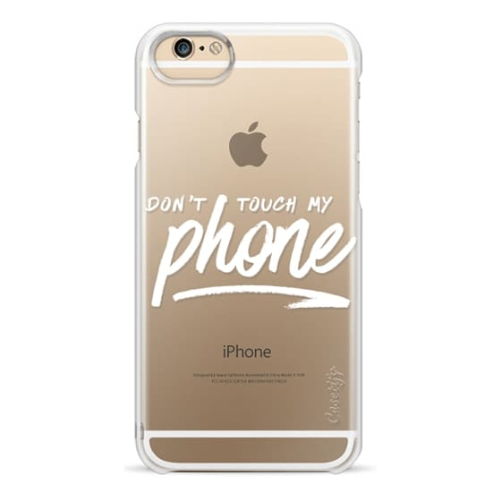 Iphone 5s Culori.Classic Snap Iphone 5 Case Don T Touch My Phone Cool Girly Transparent White Brush Script Handwriting Typography