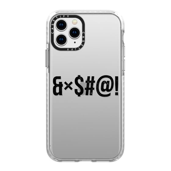 iPhone 11 Pro Cases - Cool Transparent Black Grunge Bad Swear Word