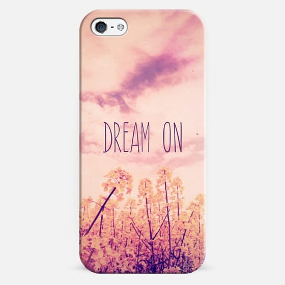 """Purple Pink Clouds Summer Sky Wild Flowers """"Dream On"""" - Classic Snap Case"""
