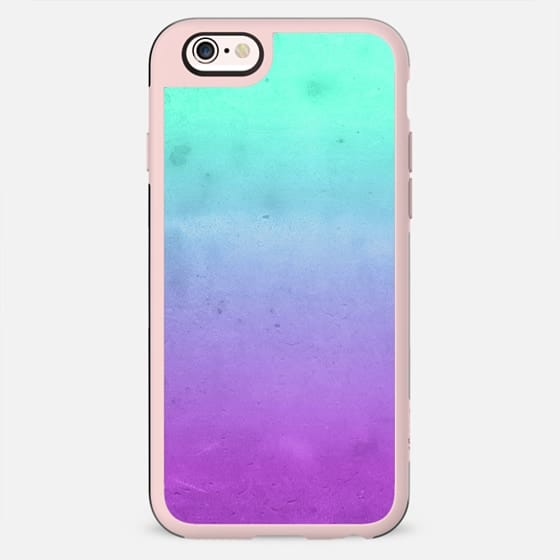 Cute Girly Colorful Purple Mint Turquoise Aqua Ombre Fade Gradient Grunge Texture - New Standard Case