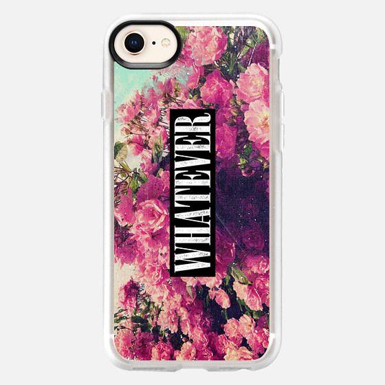 Pink Floral Flowers Roses 90s Vintage Grunge Rose Nirvana Whatever Design - Snap Case