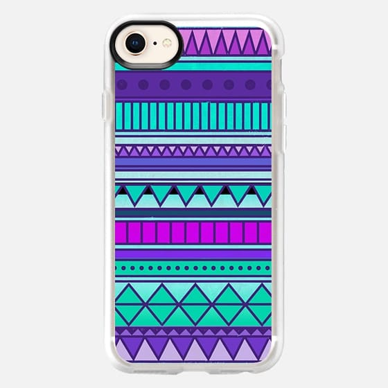 Purple Mint Turquoise Girly Cute Tribal Aztec Geometric Triangle Pattern - Snap Case