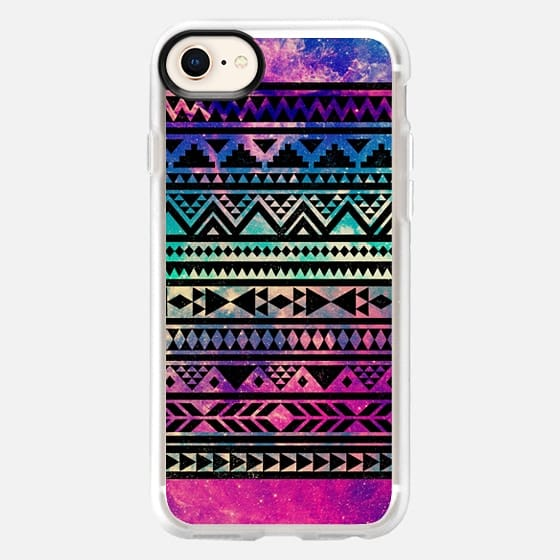 Beautiful Colorful Pink Purple Teal Girly Cute Nebula Space Stars Aztec Tribal Triangle Pattern - Snap Case
