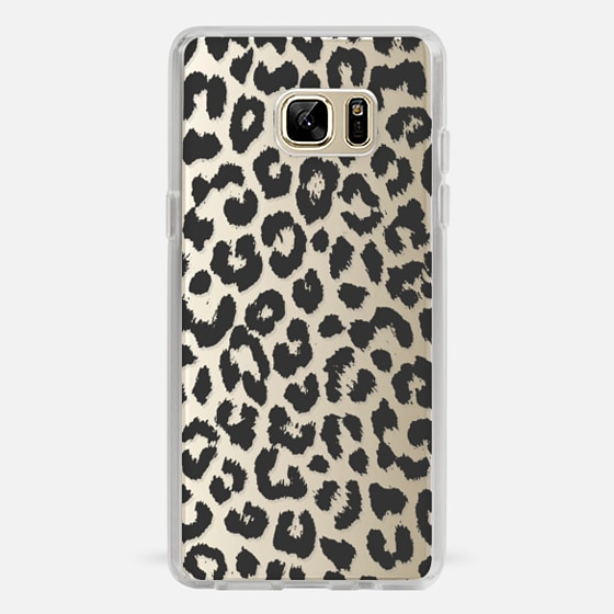 Galaxy Note 7 Case - Black Transparent Leopard Print