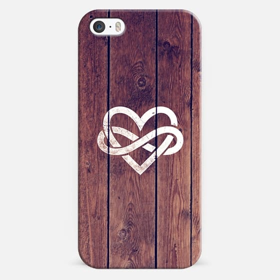 Brown Wood Grain Texture White Infinity Symbol Casetify