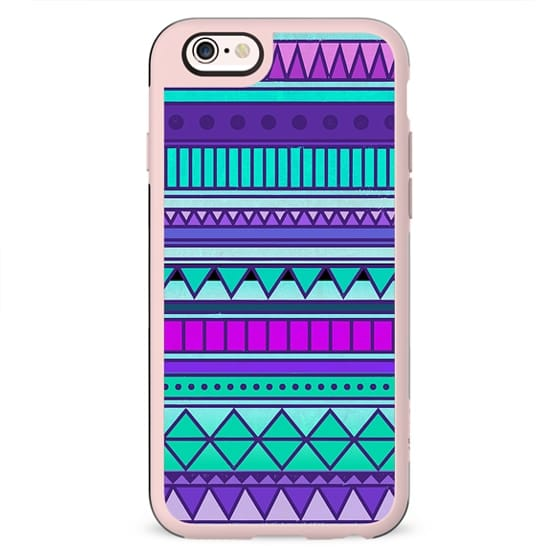 Purple Mint Turquoise Girly Cute Tribal Aztec Geometric Triangle Pattern