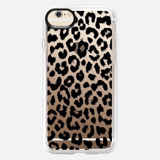 iPhone 6 Hülle - Black Transparent Leopard Print