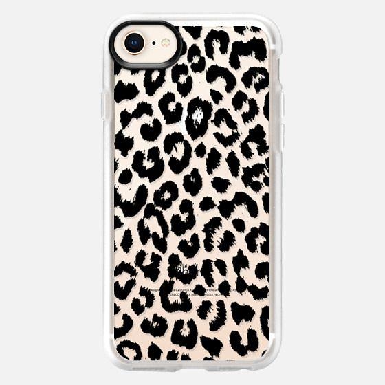 Black Transparent Leopard Print  - Classic Grip Case