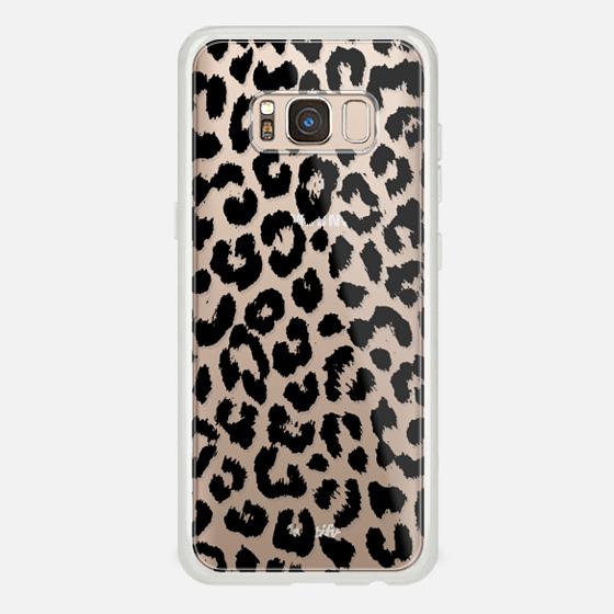 Galaxy S8 ケース - Black Transparent Leopard Print