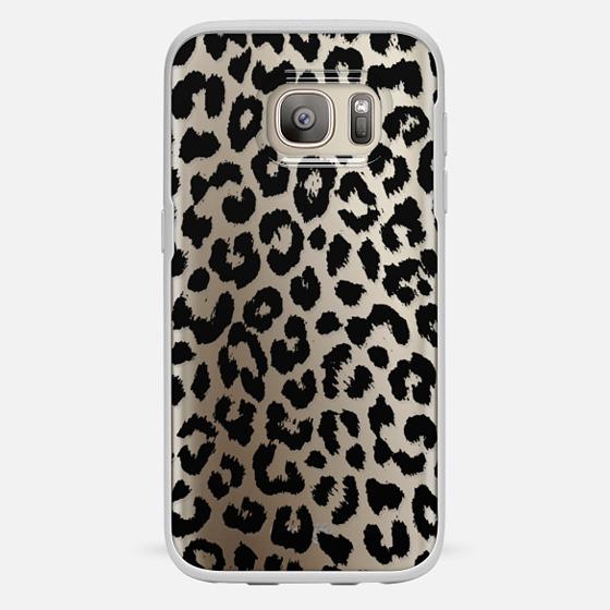 Galaxy S7 保護殼 - Black Transparent Leopard Print