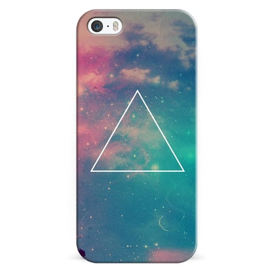 iPhone 6s Cases - Colorful Cute Girly Turquoise Blue Pink Space Nebula Galaxy Sky Clouds Stars Photo Triangle