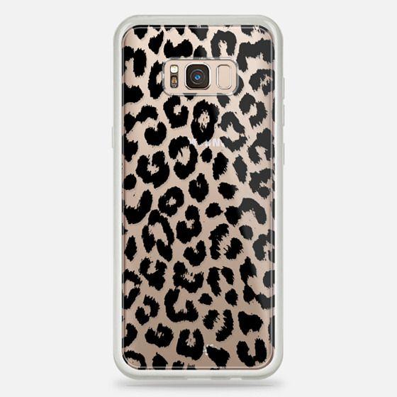Galaxy S8 Plus Hülle - Black Transparent Leopard Print