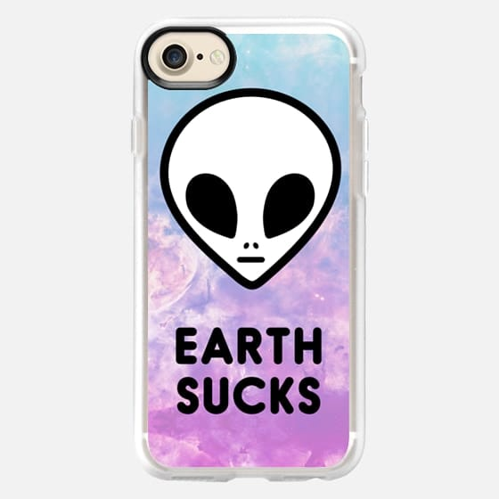 Alien Grunge 90s Aesthetic Colorful Cute Funny Space Galaxy -