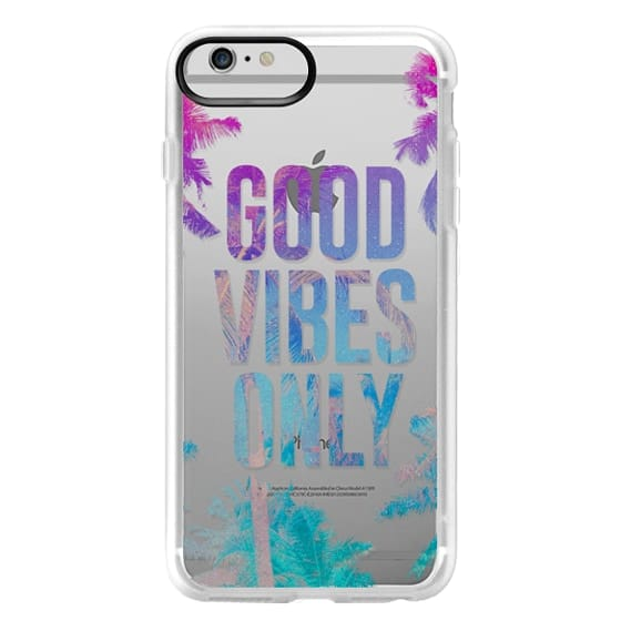 iPhone 6 Plus Cases - Transparent Tropical Summer Good Vibes Only