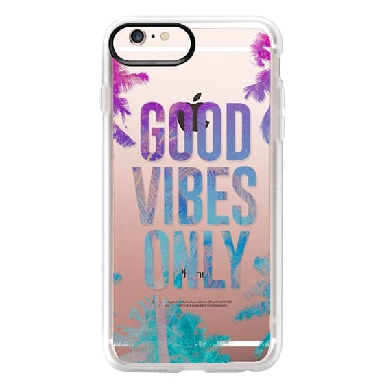 iPhone 6s Plus Cases - Transparent Tropical Summer Good Vibes Only