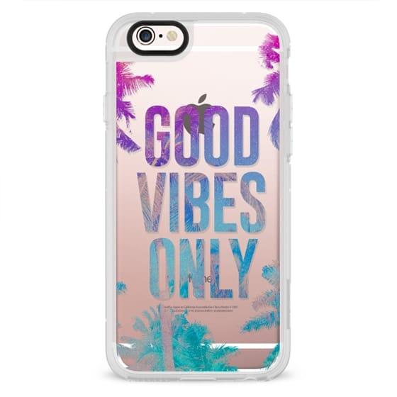 iPhone 4 Cases - Transparent Tropical Summer Good Vibes Only