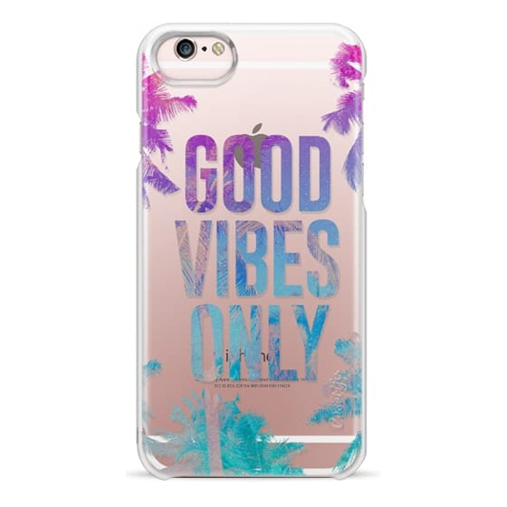 iPhone 6s Cases - Transparent Tropical Summer Good Vibes Only
