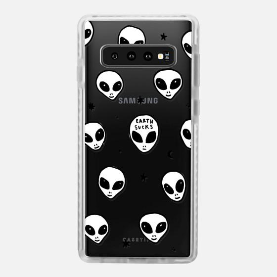 Samsung Galaxy / LG / HTC / Nexus Phone Case - Cute White UFO Space Alien Drawing Pattern