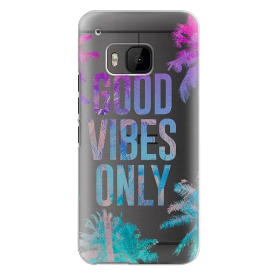 Htc One M9 Cases - Transparent Tropical Summer Good Vibes Only