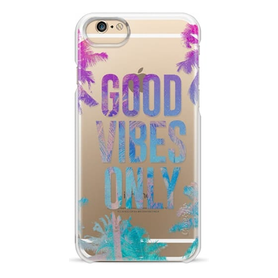 iPhone 6 Cases - Transparent Tropical Summer Good Vibes Only