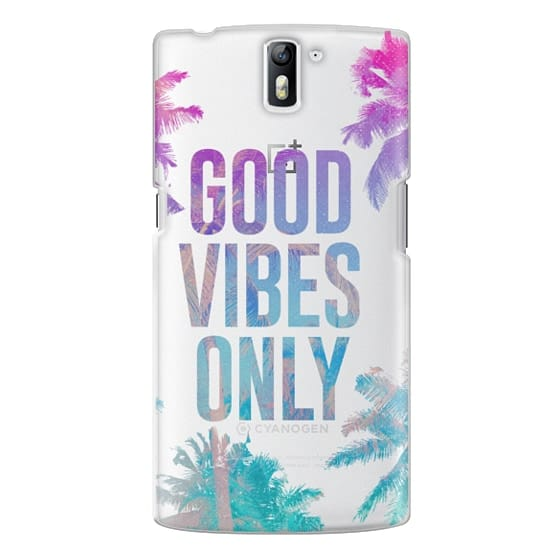 One Plus One Cases - Transparent Tropical Summer Good Vibes Only