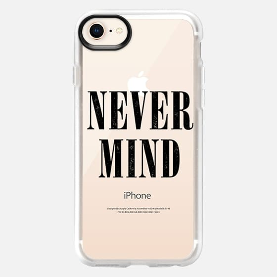 Transparent Black Grunge Nevermind Never Mind  - Snap Case