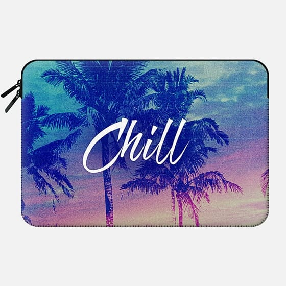 Pink Blue Palm Tree Sunset Beach Tropical Summer Chill Good Vibes California  -