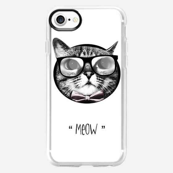 Cat with glasses - meow -