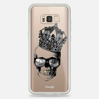 Samsung Galaxy S8+ Case King skull - TRANSPARENT