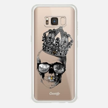 Samsung Galaxy S8 Case King skull - TRANSPARENT