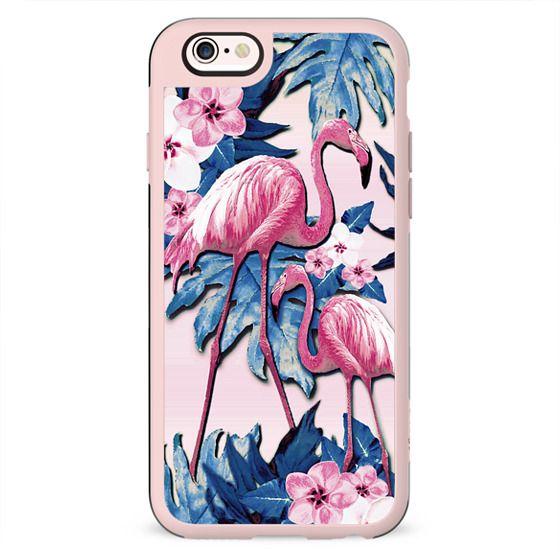 Flamingo Frangipani Blue