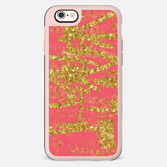Melon Candy Floss and Gold Glitter - New Standard Case