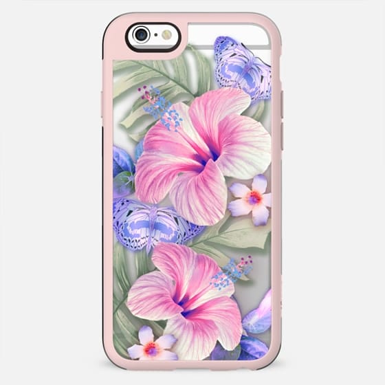 Clear Floral Aloha - New Standard Case