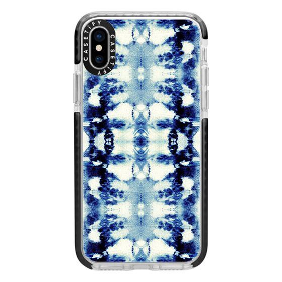 iPhone X Cases - Tie-Dye Blues