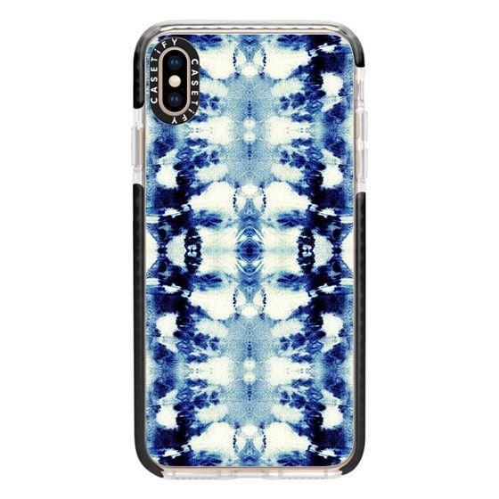 iPhone XS Max Cases - Tie-Dye Blues