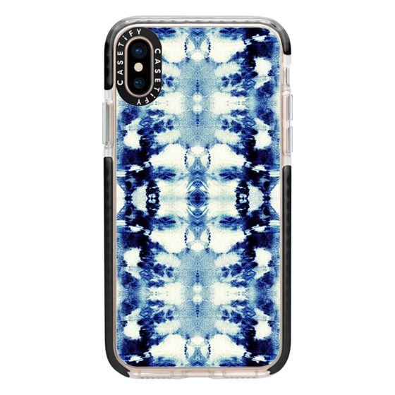 iPhone XS Cases - Tie-Dye Blues