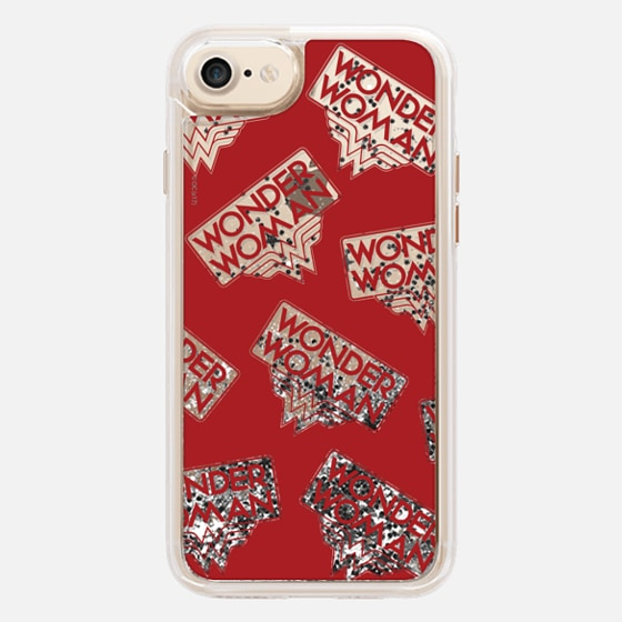 WONDER WOMAN RED TRANSPARENT PATTERN
