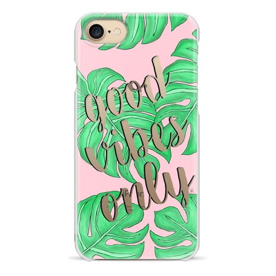 iPhone 7 Cases - Good Vibes Only - Palm and Pink