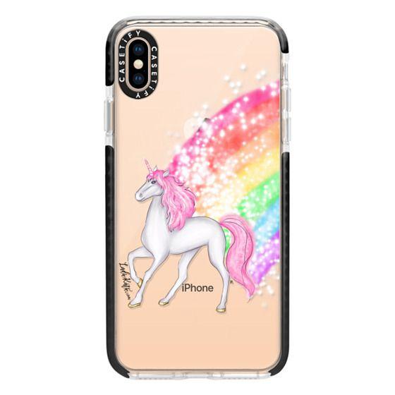 iPhone XS Max Cases - Rainbow Unicorn