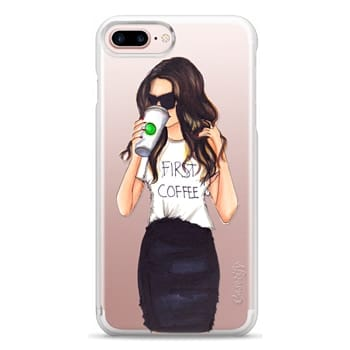 Snap iPhone 7 Plus Case - Coffee First (Brunette)