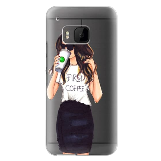 Htc One M9 Cases - Coffee First (Brunette)