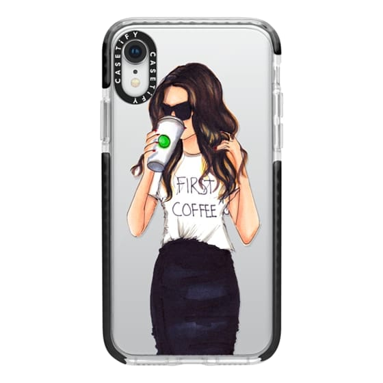 iPhone XR Cases - Coffee First (Brunette)