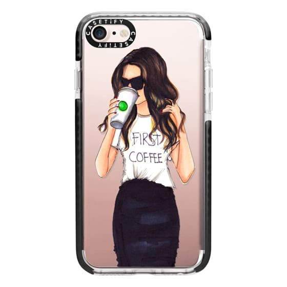 iPhone 7 Cases - Coffee First (Brunette)