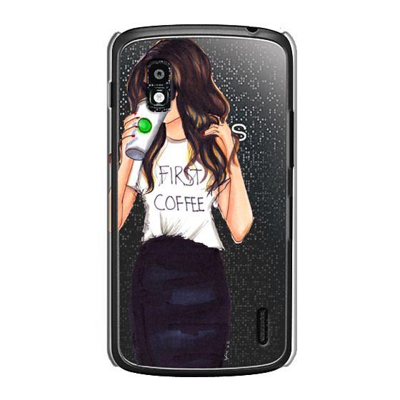 Nexus 4 Cases - Coffee First (Brunette)