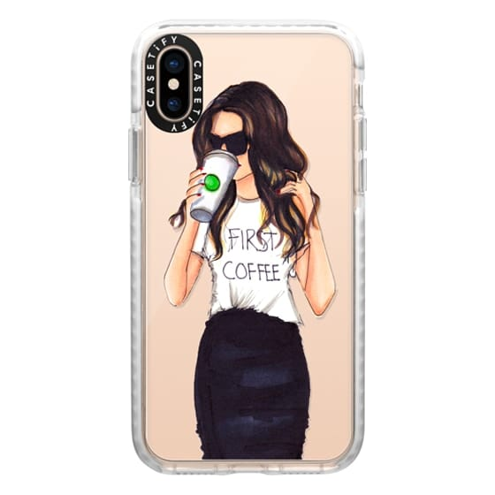 iPhone XS Cases - Coffee First (Brunette)