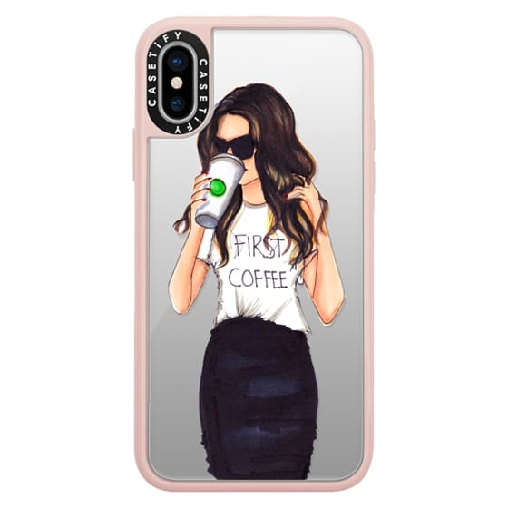 iPhone X Cases - Coffee First (Brunette)