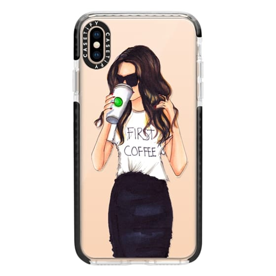 iPhone XS Max Cases - Coffee First (Brunette)