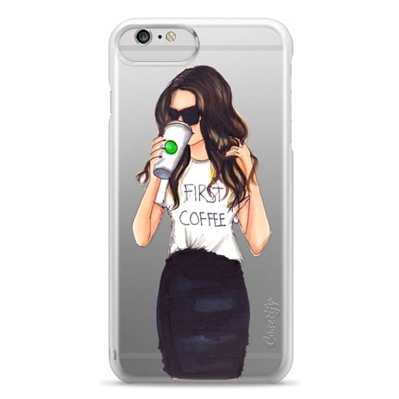 iPhone 6 Plus Cases - Coffee First (Brunette)